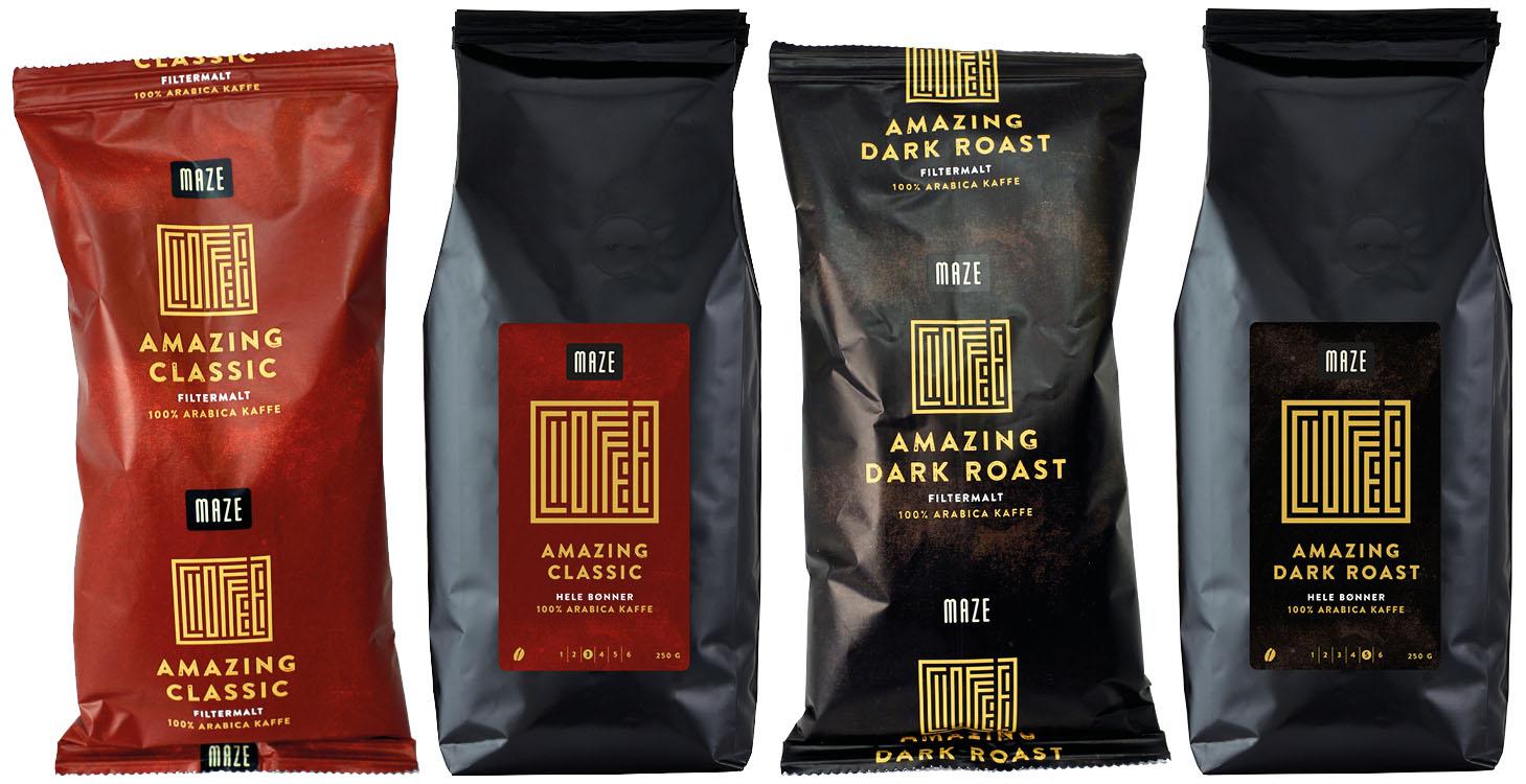 Maze kaffe packshots
