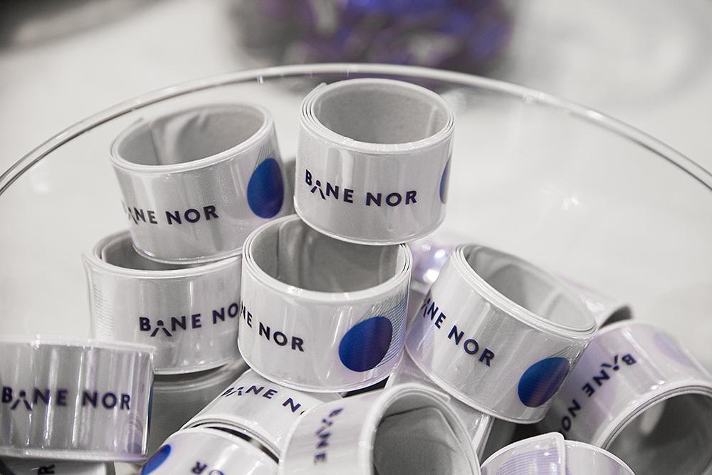 Giveaways på Bane Nor messestand